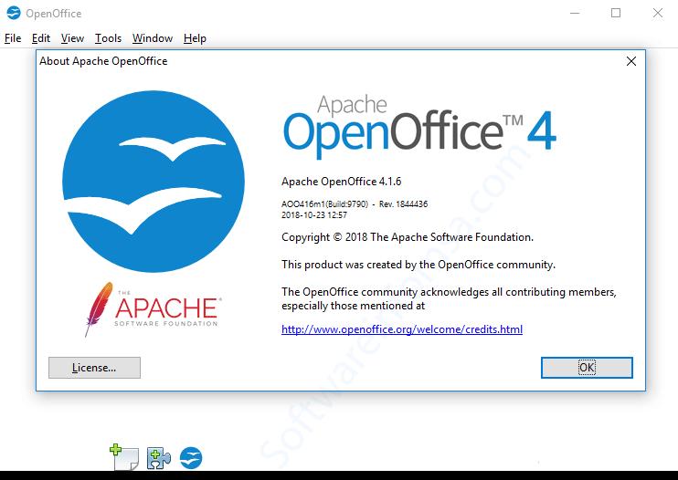 Apache-OpenOffice 4.1.6 Interface