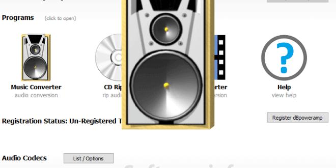 dBpowerAMP Music Converter Interface