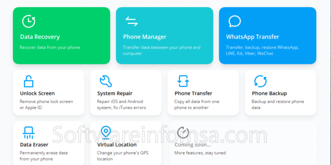 Wondershare Dr.Fone for Android Interface